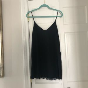 Lulu's Black Lace Slip Dress